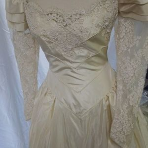 Vintage Dresses & Skirts | Victorian Lace Wedding Gown | Poshmark